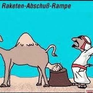 Irakische-Raketen-Abschuß-Rrampe